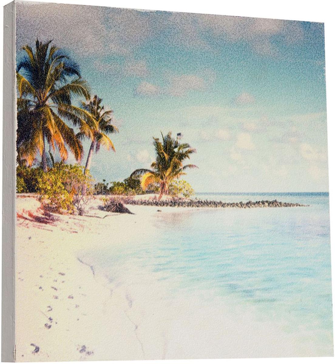 Картина Mister Poster Морской пляж, 22 х 22 см0287-22-22Картина Mister Poster - это высококачественная репродукция на деревянной раме. Лицевая поверхность имитирует штукатурку или натуральный холст, края окрашены вручную специальным декоративным составом.Современные технологии, уникальное оборудование и оригинальные чернила, используемые при изготовлении, делают постер устойчивым к выцветанию, а также гарантируют стойкость к воздействию негативных внешних факторов. Интерьер дома и офиса, в котором находится человек, в значительной степени влияет на его настроение и работоспособность. Правильное оформление интерьера создает благоприятный психологический климат, улучшает настроение и мотивирует. Добавьте «красок» в ваш интерьер и, возможно, в вашу жизнь.
