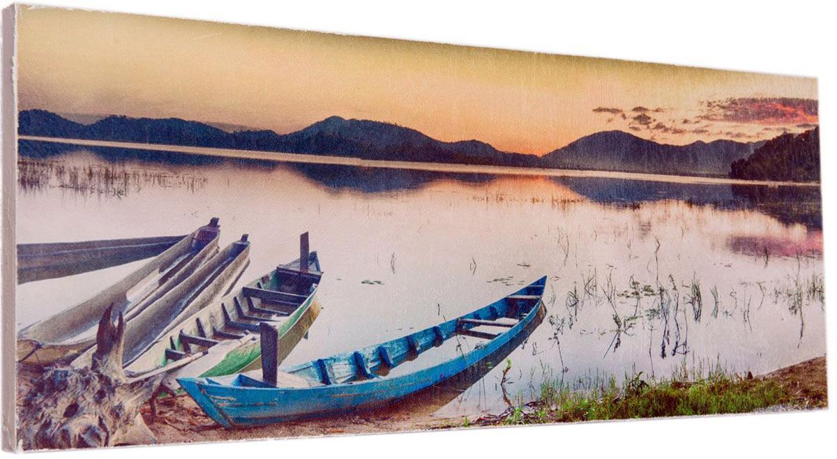 Картина Mister Poster Красивый речной пейзаж, 60 х 24 см0324-24-60Картина Mister Poster - это высококачественная репродукция на деревянной раме. Лицевая поверхность имитирует штукатурку или натуральный холст, края окрашены вручную специальным декоративным составом.Современные технологии, уникальное оборудование и оригинальные чернила, используемые при изготовлении, делают постер устойчивым к выцветанию, а также гарантируют стойкость к воздействию негативных внешних факторов. Интерьер дома и офиса, в котором находится человек, в значительной степени влияет на его настроение и работоспособность. Правильное оформление интерьера создает благоприятный психологический климат, улучшает настроение и мотивирует. Добавьте «красок» в ваш интерьер и, возможно, в вашу жизнь.