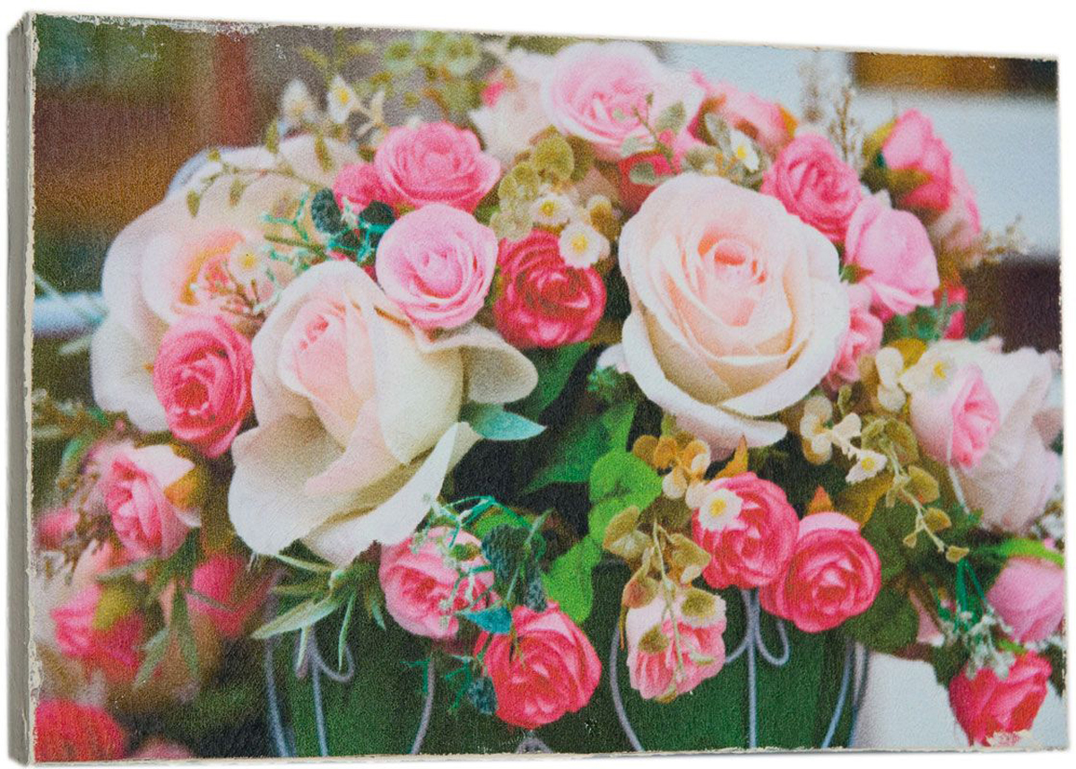 Картина Mister Poster Букет милых роз, 22 х 14,5 см0401-15-22Картина Mister Poster - это высококачественная репродукция на деревянной раме. Лицевая поверхность имитирует штукатурку или натуральный холст, края окрашены вручную специальным декоративным составом.Современные технологии, уникальное оборудование и оригинальные чернила, используемые при изготовлении, делают постер устойчивым к выцветанию, а также гарантируют стойкость к воздействию негативных внешних факторов. Интерьер дома и офиса, в котором находится человек, в значительной степени влияет на его настроение и работоспособность. Правильное оформление интерьера создает благоприятный психологический климат, улучшает настроение и мотивирует. Добавьте «красок» в ваш интерьер и, возможно, в вашу жизнь.