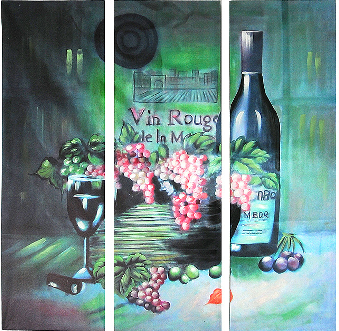 Картина-репродукция без рамки Виноград, 78 х 80 х 3 см картины постеры гобелены панно картины в квартиру картина бесконечность линий 35х35 см