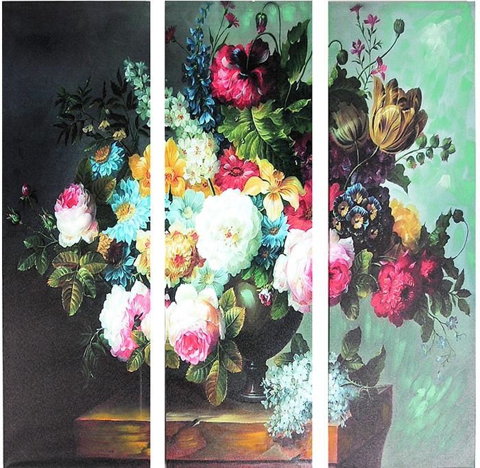 Картина-репродукция без рамки Цветы, 78 см х 80 см х 3 см картины в квартиру картина попугай 42х52 см