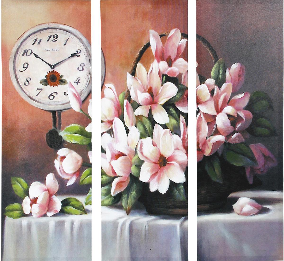 Картина-репродукция без рамки Цветы, 78 х 80 х 2,5 см 3603636036Картина-репродукция без рамки Цветы выполнена из натуральной древесины. Техника выполнения - масляная печать на холсте с ручной подрисовкой. Картина состоит из трех частей с красочным изображением букета цветов.Такая картина - вдохновляющее декоративное решение, привносящее в интерьер нотки творчества и изысканности!Благодаря оригинальному дизайну картина дополнит интерьер любого помещения, а также сможет стать изысканным подарком для ваших друзей и близких.