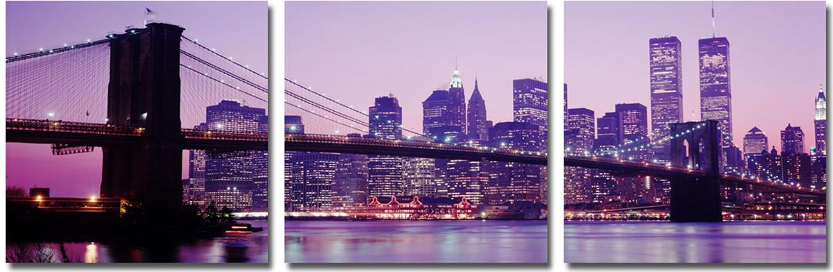 Канвас триптих Idea Мост. Нью-Йорк, 46,5 х 46,5 см канвас idea балкончик 40 х 50 см