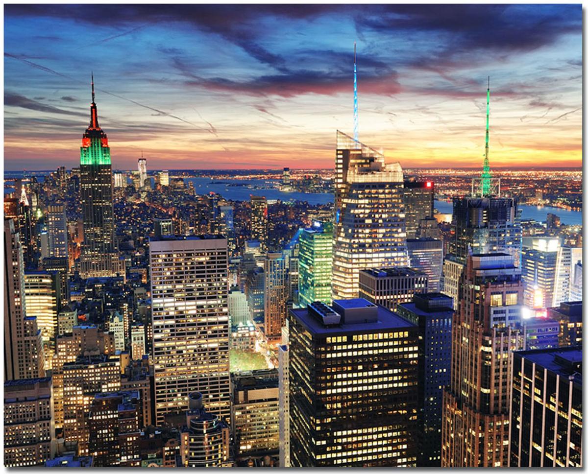 Канвас Idea Ночной Нью-Йорк, 50 см х 40 смIDEA CT3-05Канвас - это ткань с художественной фотопечатью, натянутая на деревянный каркас. Такое изделие - оригинальный декоративный элемент, способный преобразить любой интерьер. Картина оформлена красочным изображением ночного Нью-Йорка. С задней стороны имеется петелька для подвешивания к стене.Стильный, современный дизайн, а также яркие и насыщенные цвета сделают эту картину прекрасным дополнением интерьера комнаты.