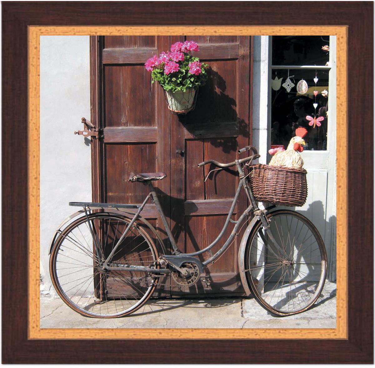Постер в раме Postermarket Велосипед, 30 х 30 смPM-3003Картина для интерьера (постер) - современное и актуальное направление в дизайне любых помещений.Постер с красочным изображением велосипеда оформлен в раму коричневого цвета, выполненную из пластика под дерево. Картина защищена прозрачным пластиком. С задней стороны имеется петелька для подвешивания к стене. Картина может использоваться для оформления любых интерьеров: - дом, квартира (гостиная, спальня, кухня, прихожая, детская); - офис (комната переговоров, холл, кабинет); - бар, кафе, ресторан или гостиница.Картины, предоставляемые компанией Постермаркет:- собраны вручную из лучших импортных комплектующих; - надежно упакованы в пленку с противоударными уголками.