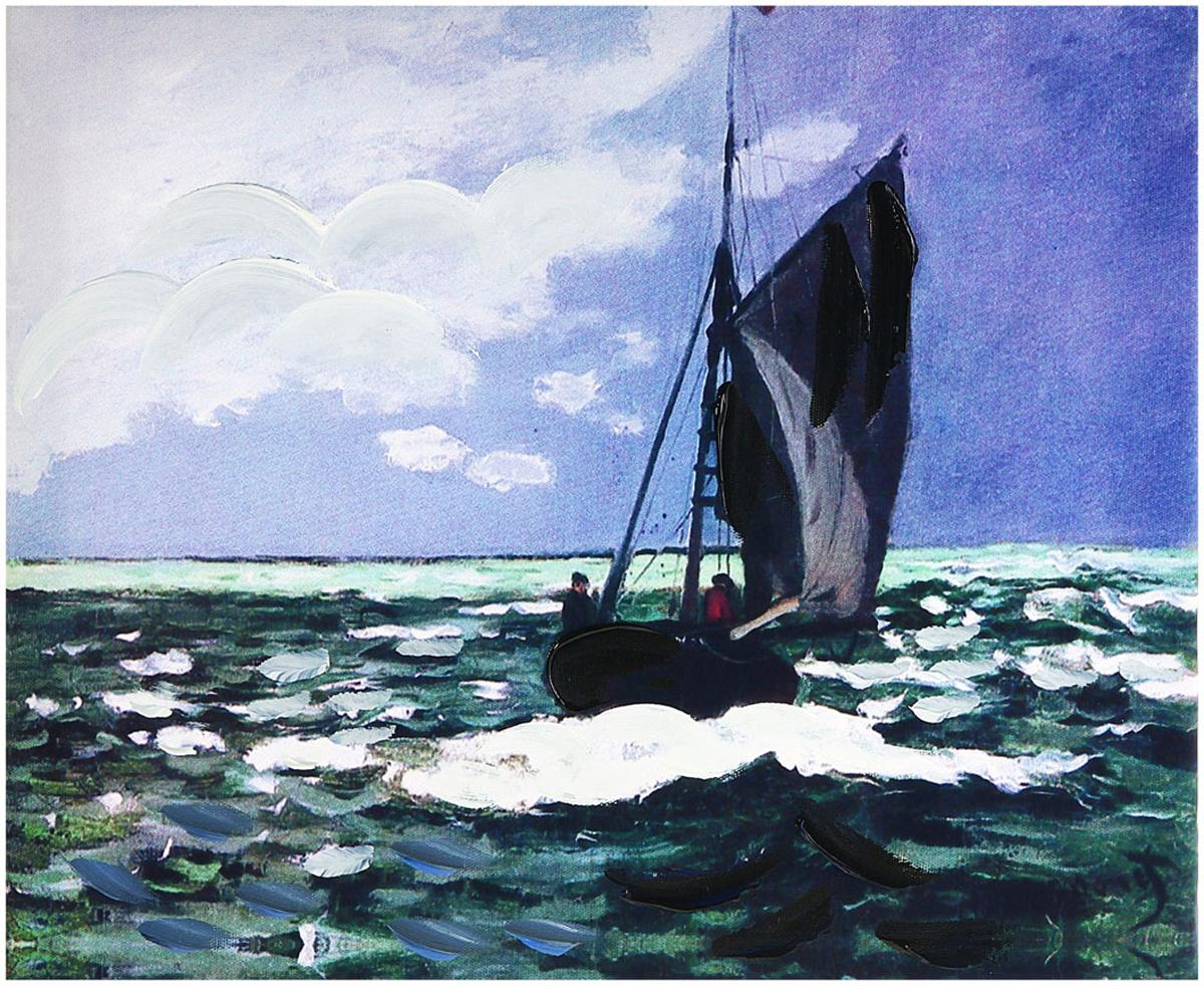 Картина на холсте Sima-land Парусник, 25 х 30 см картина объемная sima land морское дно 30 см х 40 см