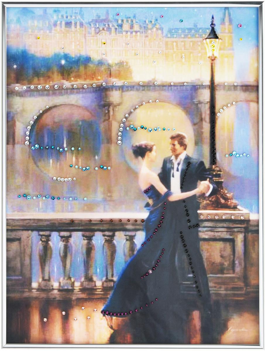 Картина с кристаллами Swarovski Танец любви, 30 см х 40 см1321Изящная картина в багетной раме, инкрустирована кристаллами Swarovski, которые отличаются четкой и ровной огранкой, ярким блеском и чистотой цвета. Красочное изображение овечки, расположенное под стеклом, прекрасно дополняет блеск кристаллов. С обратной стороны имеется металлическая петелька для размещения картины на стене. Картина с кристаллами Swarovski Танец любви элегантно украсит интерьер дома или офиса, а также станет прекрасным подарком, который обязательно понравится получателю. Блеск кристаллов в интерьере, что может быть сказочнее и удивительнее. Картина упакована в подарочную картонную коробку синего цвета и комплектуется сертификатом соответствия Swarovski. Количество кристаллов: 219 шт. Размер картины: 30 см х 40 см.