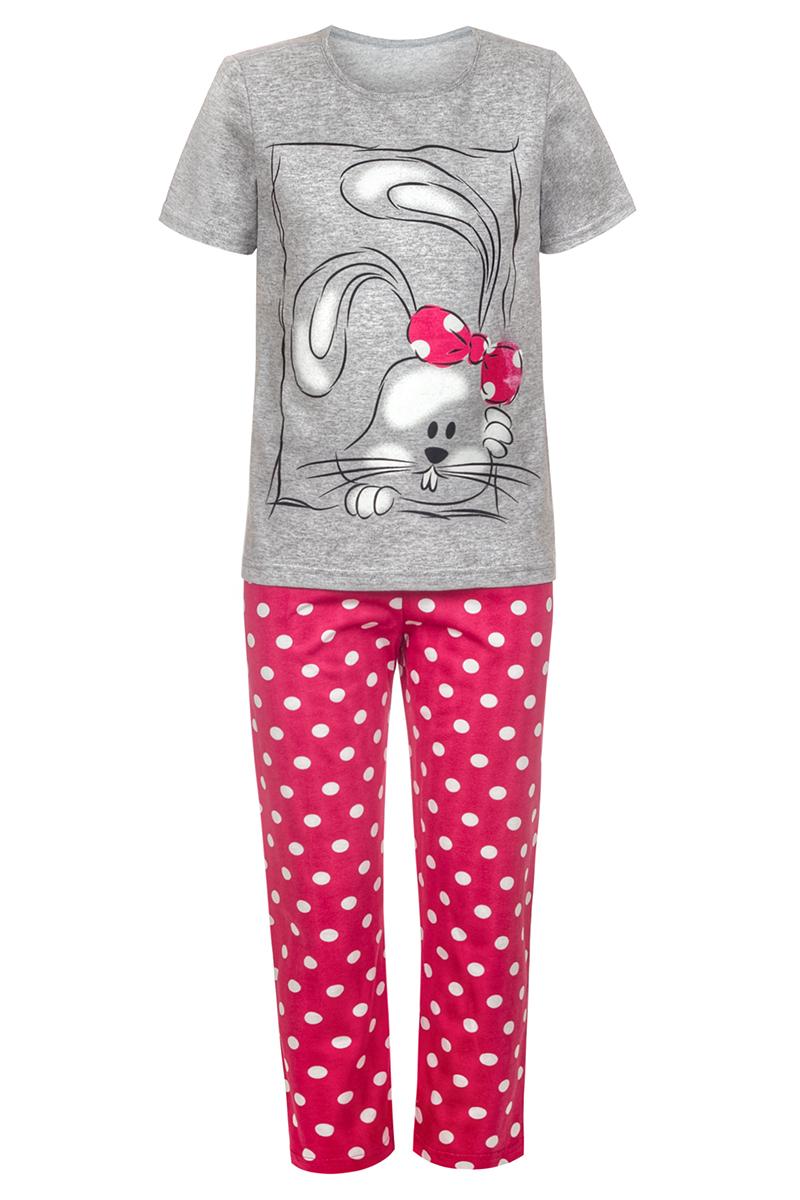 Пижама для девочки M&D, цвет: разноцветный. ПЖ180907М82. Размер 128ПЖ180907М82