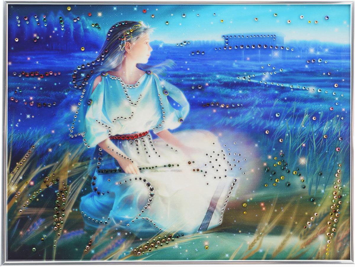 Картина с кристаллами Swarovski Знак зодиака. Дева Кагая, 40 х 30 см1142Изящная картина в металлической раме, инкрустирована кристаллами Swarovski, которые отличаются четкой и ровной огранкой, ярким блеском и чистотой цвета. Красочное изображение знака зодиака - дева Кагая, расположенное под стеклом, прекрасно дополняет блеск кристаллов. С обратной стороны имеется металлическая петелька для размещения картины на стене.Картина с кристаллами Swarovski Знак зодиака. Дева Кагая элегантно украсит интерьер дома или офиса, а также станет прекрасным подарком, который обязательно понравится получателю. Блеск кристаллов в интерьере, что может быть сказочнее и удивительнее.Картина упакована в подарочную картонную коробку синего цвета и комплектуется сертификатом соответствия Swarovski.
