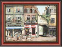 Парижский отель (Fabrice de Villeneuve), 17 x 22 см17x22 D0759-41418Художественная репродукция картины Fabrice de Villeneuve Hotel de Paris.Размер постера: 17 см x 22 см.Артикул:17x22 D0759-41418. Изображение нанесено на чрезвычайно плотную основу (это не бумага и не картон) и обрамлено в багет.Технология изготовления арт-постеров подразумевает обязательную художественную ламинацию каждого изображения, чтопридает картине дополнительную ценность, а также защищает поверхность от загрязнения, повреждений (в том числе попыток помять, исцарапать изображение), влаги и ультрафиолетовых лучей. Так, например, наши арт-постеры совершенно спокойно перенесут не одну зиму в дачном или загородном доме.Ламинирование может значительно улучшить качество изображения. Использование пленок дает различную фактуру лицевой поверхности изображения (глянцевую, матовую, холщевую, ситцевую, льняную и другие). Например, при использовании глянцевых пленок изображение проявляется - краски становятся более контрастными исочными. Технология художественного ламинирования максимально приближает изображение к натуральной картине (холст, масло), акварели.Отличить арт-постер, изготовленный по такой технологии, от копии, нарисованной художником можно лишь при детальном пристальном рассмотрении. Рассматривая арт-постер с расстояния свыше 1 метра - вы не заметите никаких отличий. А компьютерная точность воспроизведения, исключающая неточность руки копировальщика, создаст в Вашем доме ощущение присутствия настоящего шедевра, не подвластного времени. Именно поэтому арт-постеры являютсяпризнанным стандартом изготовления копий художественных произведений.При обрамлении изображений, поверхность которых защищена художественной ламинацией, стекло не требуется. А это означает отсутствие раздражающих бликов, возможности случайно разбить стекло, уменьшается вес Арт-постера.