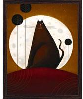 """Постер """"Черный кот"""" (Д. Парри), 24 х 30 см"""