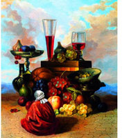 Картина-репродукция без рамки Жизнь Востока во время сбора винограда. 2004, 60 х 50 см 1584015840Картина-репродукция Жизнь Востока во время сбора винограда. 2004 дополнит интерьер любого помещения, а также может стать изысканным подарком для Ваших друзей и близких.Благодаря оригинальному дизайну картина может использоваться для оформления любых интерьеров. Картина выполненная на холсте масленой печатью с ручной подрисовкой. Художественная подрисовка осуществлена не автором.Такая картина - вдохновляющее декоративное решение, привносящее в интерьер нотки творчества и изысканности! Характеристики:Материал: холст, МДФ. Размер: 60 см х 50 см. Артикул: 15840. Изготовитель: Китай.
