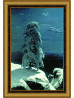 "Арт-постер в багете ""На севере диком"" (И.И. Шишкина), 27 x 40 см, Экселлент-Арт"