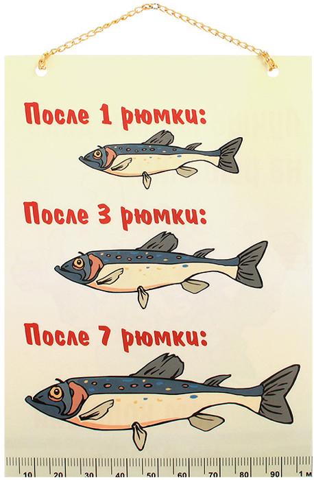 Плакат Рыбалка / Рюмки91589Забавный плакат Рыбалка / Рюмки станет оригинальным подарком. Плакат выполнен из бумаги с глянцевой ламинацией и оформлен красочными веселыми изображениями. На одной стороне плаката написано Лучше плохой день на рыбалке, чем хороший на работе!, на другой - После 1 рюмки: после 3 рюмки: после 7 рюмки:.Плакат можно повесить в любое понравившееся вам место благодаря цепочке. Характеристики: Размеры плаката: 20,5 см x 14,5 см. Длина цепочки: 11 см. Артикул: 91589.