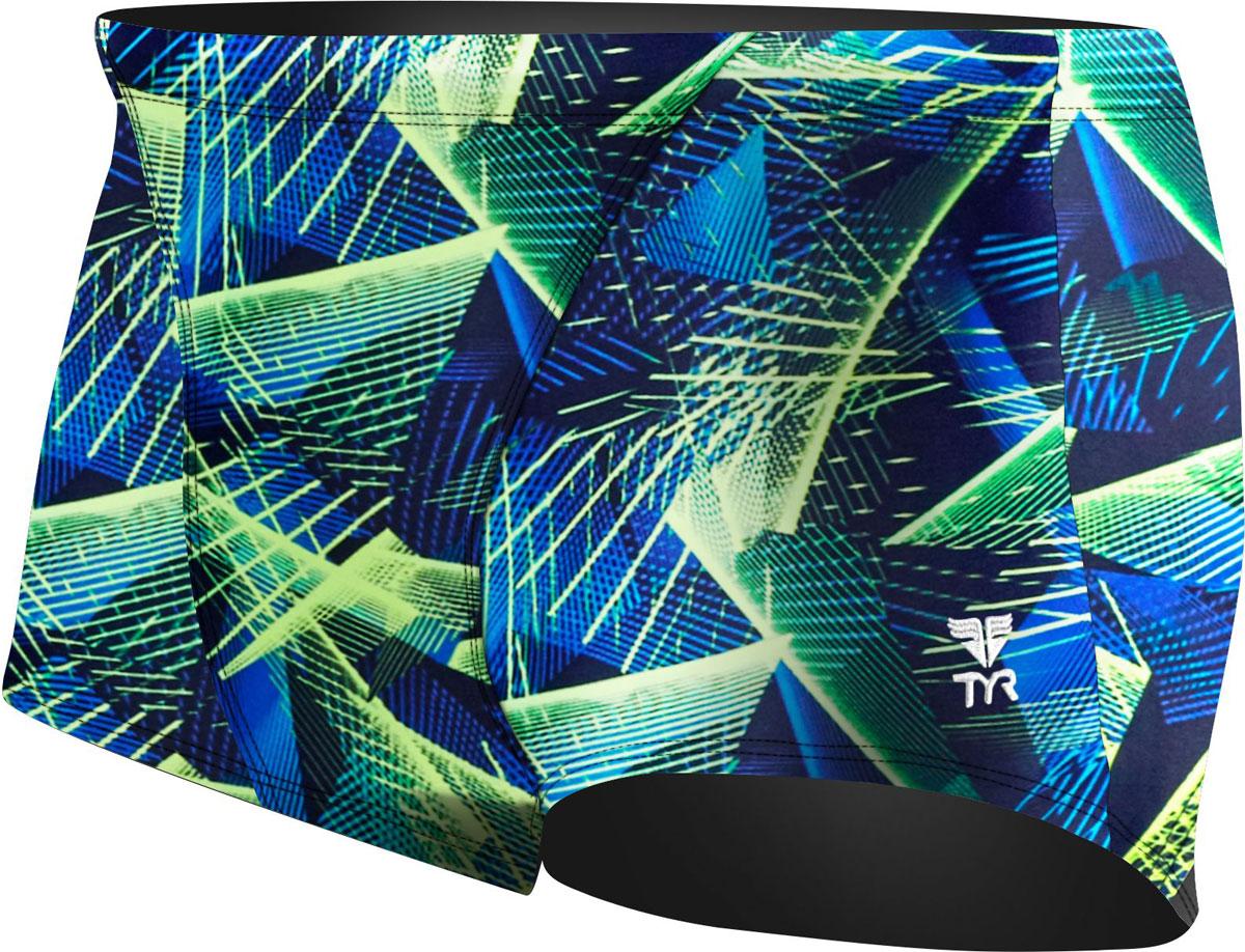 Плавки мужские TYR Axis All Over Trunk, цвет: голубой, зеленый. STAX7A. Размер 32 (44/46) мужские купальные плавки sbart