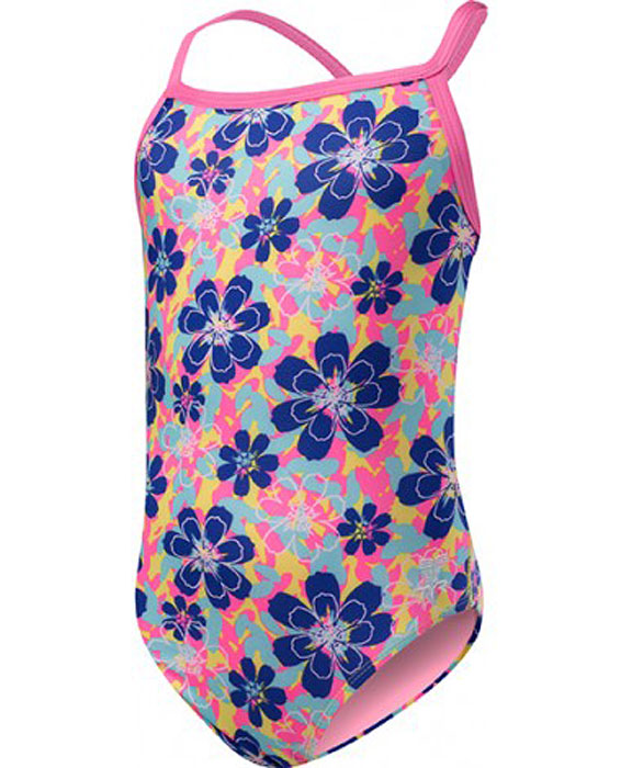 Купальник для девочки Tyr Girls' Poppy Diamondfit, цвет: синий. DGPO7Y. Размер 99/110 - Плавание