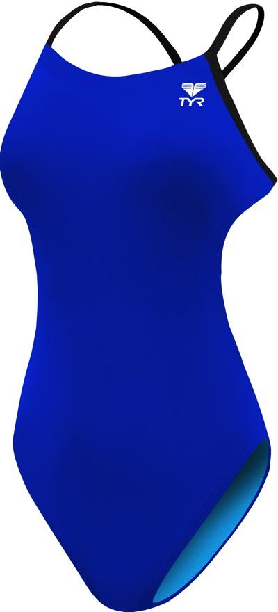 Купальник слитный TYR Solid Cutoutfit, цвет: черный, голубой. TFSOD7A. Размер 32 (42/44)TFSOD7AСлитный купальник TYR выполнен из высококачественного легкого материала (DurafastOne), устойчивого к воздействию хлора и ультрафиолетового излучения, благодаря этому купальник надолго сохраняет форму и не изнашивается. Ткань очень эластична и идеально садится по фигуре. Специальные спортивные лямки, y-образно пересекающиеся на спине, надежно фиксируют купальник, не позволяя ему смещаться во время тренировок.