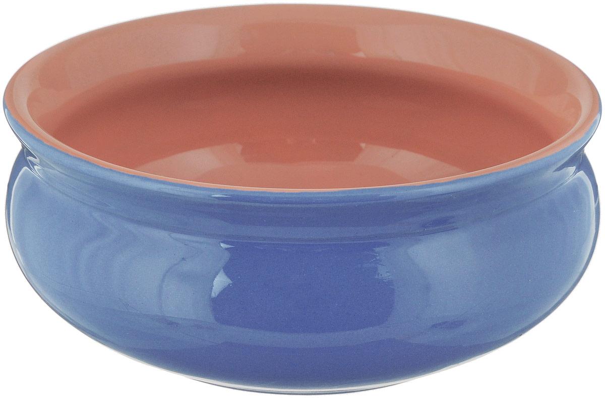 """Глубокая тарелка Борисовская керамика """"Скифская"""" выполнена  из керамики. Изделие сочетает в себе изысканный дизайн с  максимальной функциональностью. Она прекрасно впишется в  интерьер вашей кухни и станет достойным дополнением к  кухонному инвентарю.  Такая тарелка подчеркнет прекрасный вкус хозяйки и станет  отличным подарком.  Можно использовать в духовке и микроволновой печи.  Диаметр тарелки (по верхнему краю): 14 см.  Объем: 500 мл"""
