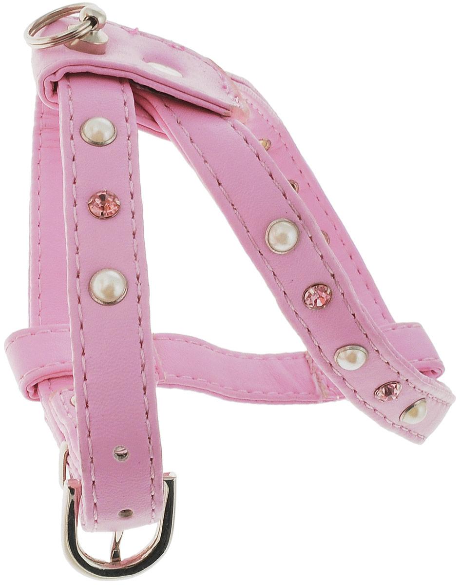 Шлейка для собак GLG, цвет: розовый. Размер 2OH19/B_малиновый