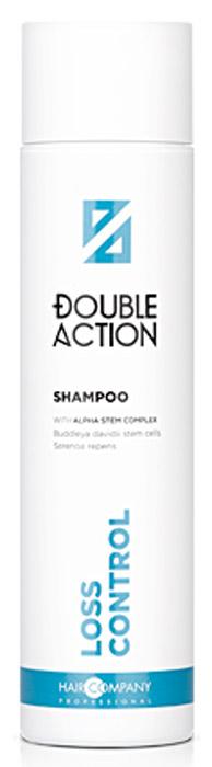 Hair Company Professional Шампунь против выпадения волос Double Action Loss Control Shampoo, 250 мл257378/LB12662Cпециальный шампунь против выпадения волос Hair Company Loss Control Shampoo особо тщательно и одновременно мягко очищает волосы и кожу головы. Обладает смягчающим, восстанавливающим и укрепляющим действием, которое, в сочетании с легким массажем, придает волосам тонус, улучшая их внешний вид. Действие шампуня основано на силе активных растительных и поливитаминных компонентов: имбирь, японская софора, инозитол, ягоды кипариса препятствуют выпадению, стимулируют рост и восстановление волос. Стволовые клетки растительного происхождения на основе Будлея давида, укрепляют и противостоят ослаблению структуры волос, обеспечивая питание кожного покрова. Шампунь придает волосам жизненный тонус, чувство свежести и легкости. Они становятся более привлекательными, послушными и необыкновенно мягкими на ощупь.