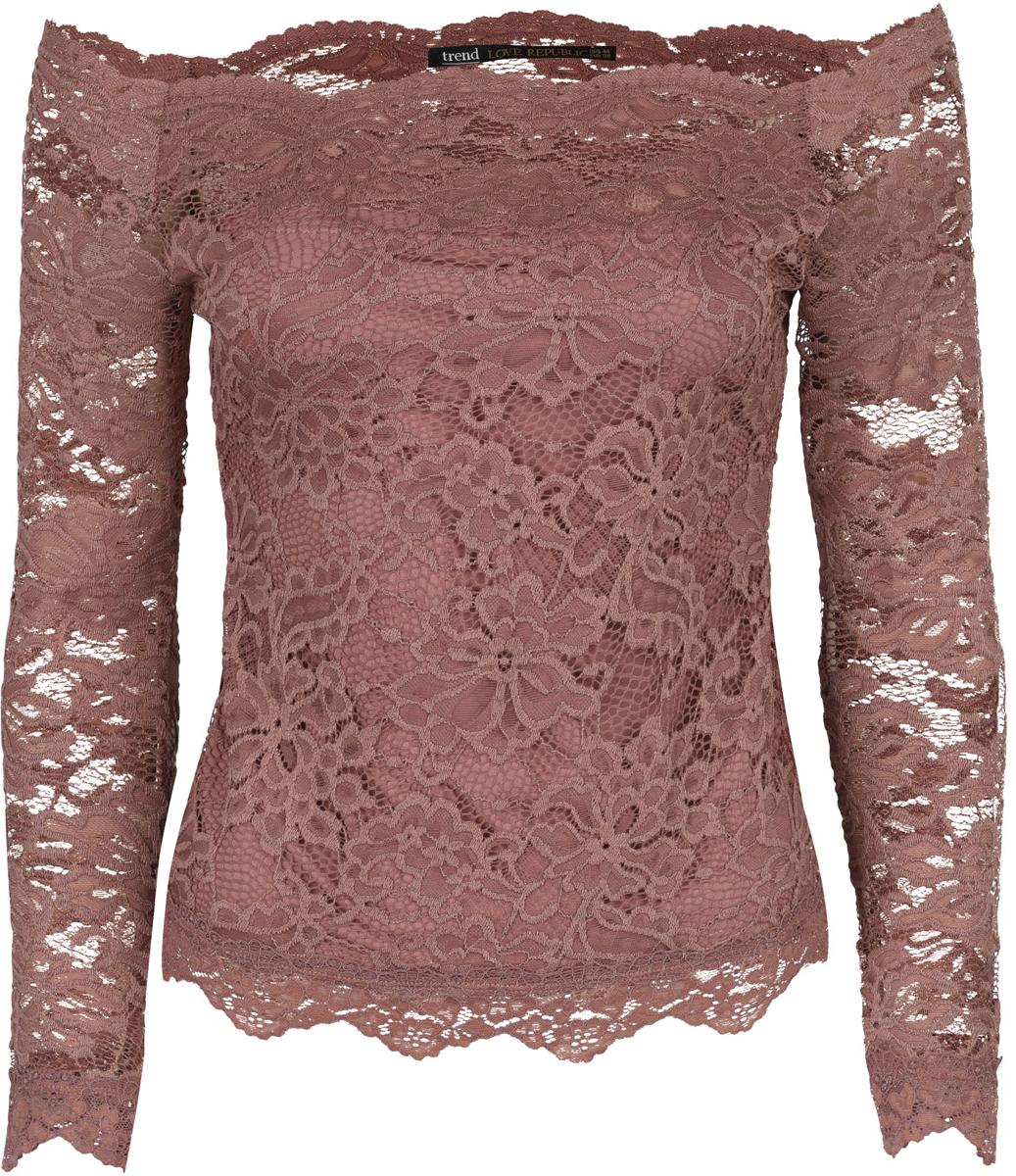 Блузка женская Love Republic, цвет: темно-розовый. 8153011314_63. Размер 468153011314_63Сногсшибательная блузка Love Republic выполнена из комбинированныхматериалов. Модель приталенного кроя с длинными рукавами. Такая кружевная блузка поможет создать невероятно женственный образ.