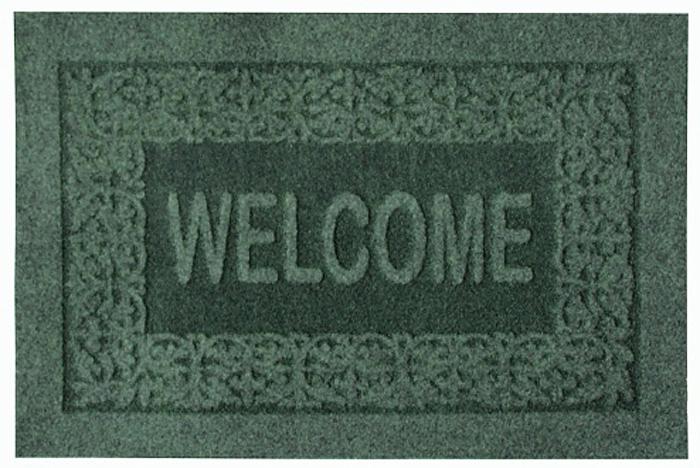 Коврик придверный EFCO Оскар, цвет: зеленый, 40 х 60 см32-071Оригинальный придверный коврик EFCO Оскарнадежно защитит помещение от уличной пыли и грязи.Изделие выполнено из 100% полипропилена, основа - латекс.Такой коврик сохранит привлекательный внешний вид надолгое время, а благодаря латексной основе, он легко чиститсяи моется.