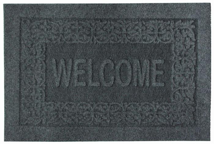 Коврик придверный EFCO Оскар, цвет: серый, 40 х 60 см30-015Оригинальный придверный коврик EFCO Оскарнадежно защитит помещение от уличной пыли и грязи.Изделие выполнено из 100% полипропилена, основа - латекс.Такой коврик сохранит привлекательный внешний вид надолгое время, а благодаря латексной основе, он легко чиститсяи моется.