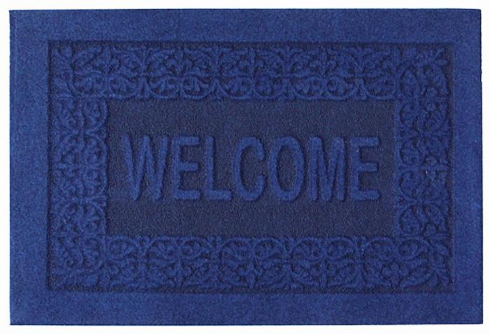 Коврик придверный EFCO Оскар, цвет: синий, 40 х 60 см18532/синийОригинальный придверный коврик EFCO Оскарнадежно защитит помещение от уличной пыли и грязи.Изделие выполнено из 100% полипропилена, основа - латекс.Такой коврик сохранит привлекательный внешний вид надолгое время, а благодаря латексной основе, он легко чиститсяи моется.