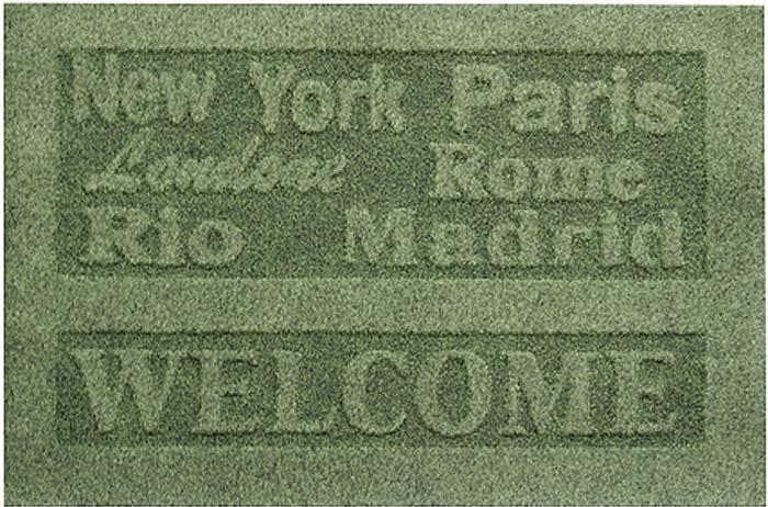 Коврик придверный EFCO Оскар, цвет: зеленый, 45 х 68 см18569Оригинальный придверный коврик EFCO Оскар надежно защитит помещение от уличной пыли и грязи. Изделие выполнено из 100% полипропилена, основа - латекс. Такой коврик сохранит привлекательный внешний вид на долгое время, а благодаря латексной основе, он легко чистится и моется.