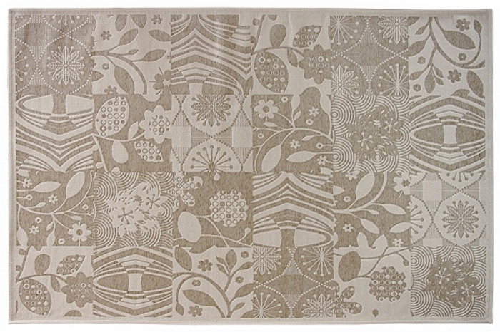Коврик прикроватный Oriental Weavers Дрим, цвет: серо-бежевый, 80 х 165 см. 23 W