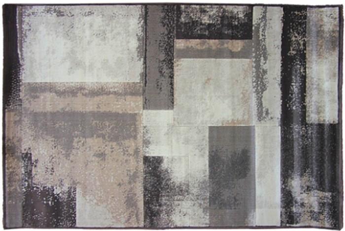 Коврик прикроватный Oriental Weavers Скай Лайн, цвет: серо-белый, 80 см х 140 см. 612 Y