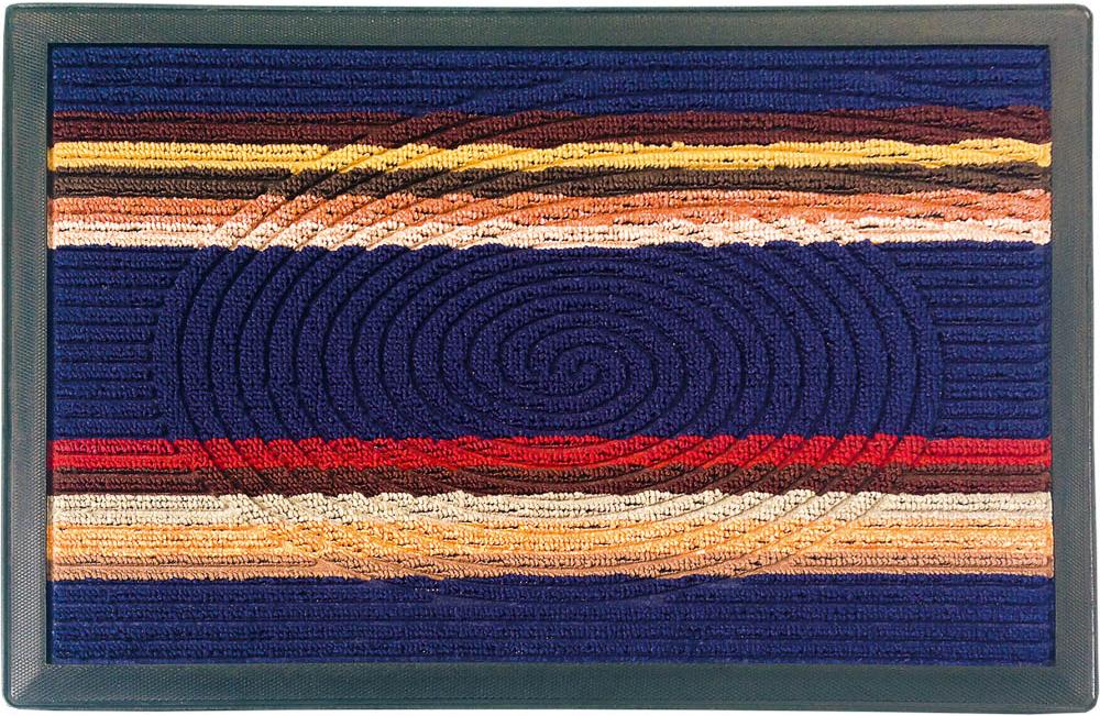 Коврик придверный Vortex Comfort, цвет: синий, 40 х 60 см коврик дорожка vortex disco основа латекс