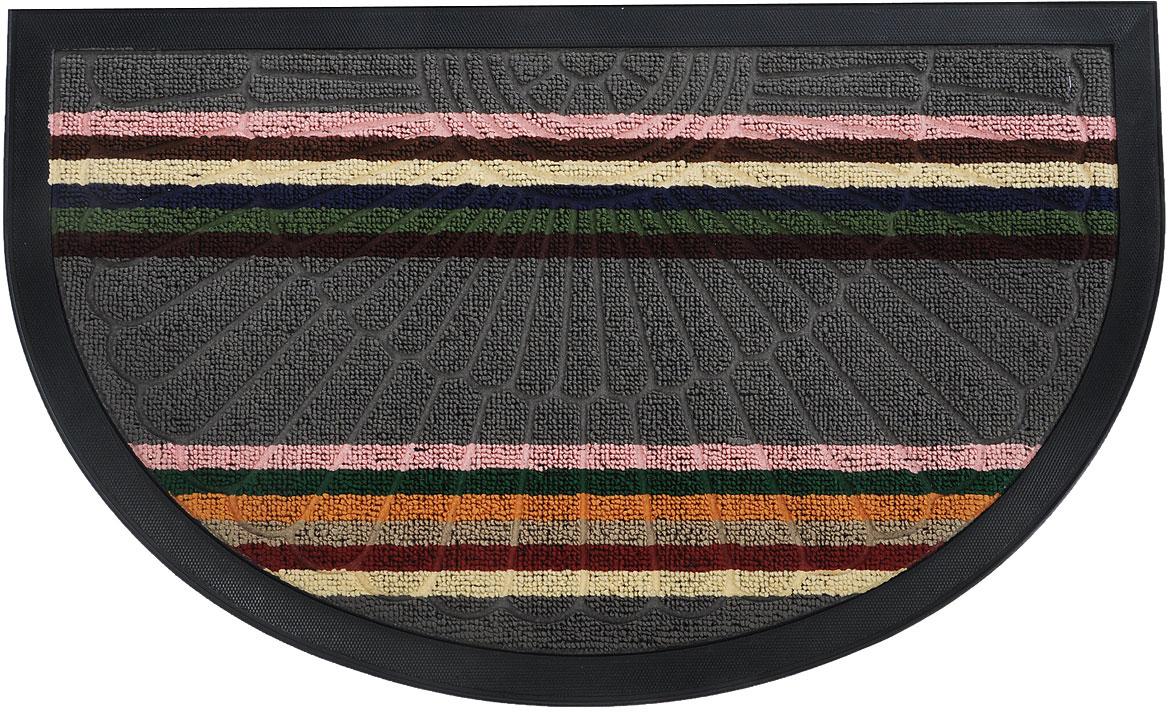 Коврик придверный Vortex Comfort, цвет: серый, розовый, зеленый, 75 х 45 см коврик vortex на ступеньку цвет черный 25 см х 75 см