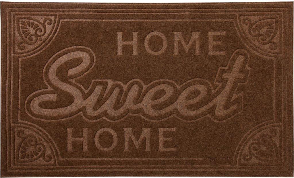 Коврик придверный Vortex Comfort Home Sweet Home, 45 х 75 см22378Ворс коврика Vortex изготовлен из 100% полиэстера. Коврик оснащенвыполненной из ПВХ подложкой.Коврик Vortex гармонично впишется в интерьер вашего дома и создастатмосферу уюта и комфорта. Изделие отлично подойдет как для использования вдоме, так и снаружи.