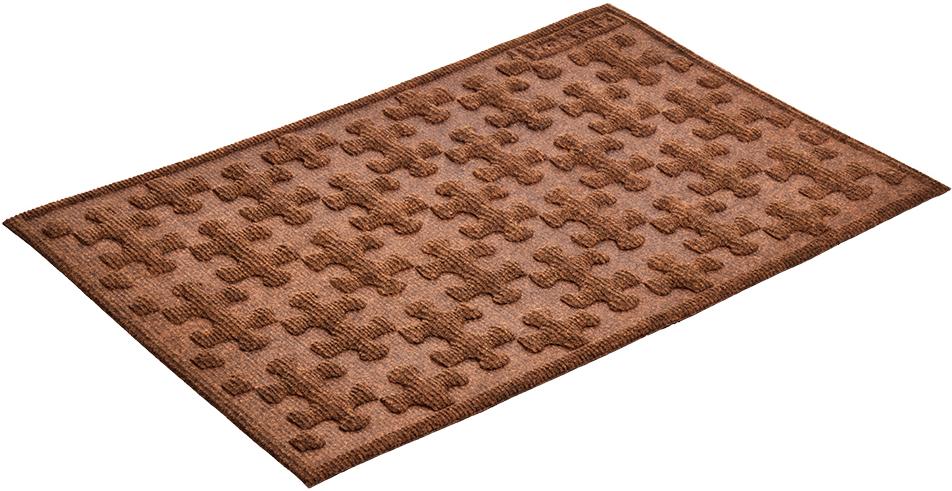 Коврик придверный Vortex Greek, рельефный, цвет: коричневый, 40 х 60 см20103Ворс коврика Vortex изготовлен из 100% полипропилена. Коврик оснащен выполненной из резины подложкой. Коврик Vortex гармонично впишется в интерьер вашего дома и создаст атмосферу уюта и комфорта. Изделие отлично подойдет как для использования в доме, так и снаружи.