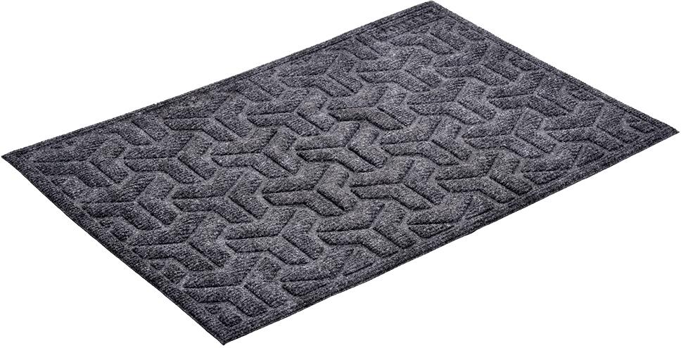 Коврик придверный Vortex Greek, рельефный, цвет: серый, 40 х 60 см20101Ворс коврика Vortex изготовлен из 100% полипропилена. Коврик оснащен выполненной из резины подложкой. Коврик Vortex гармонично впишется в интерьер вашего дома и создаст атмосферу уюта и комфорта. Изделие отлично подойдет как для использования в доме, так и снаружи.