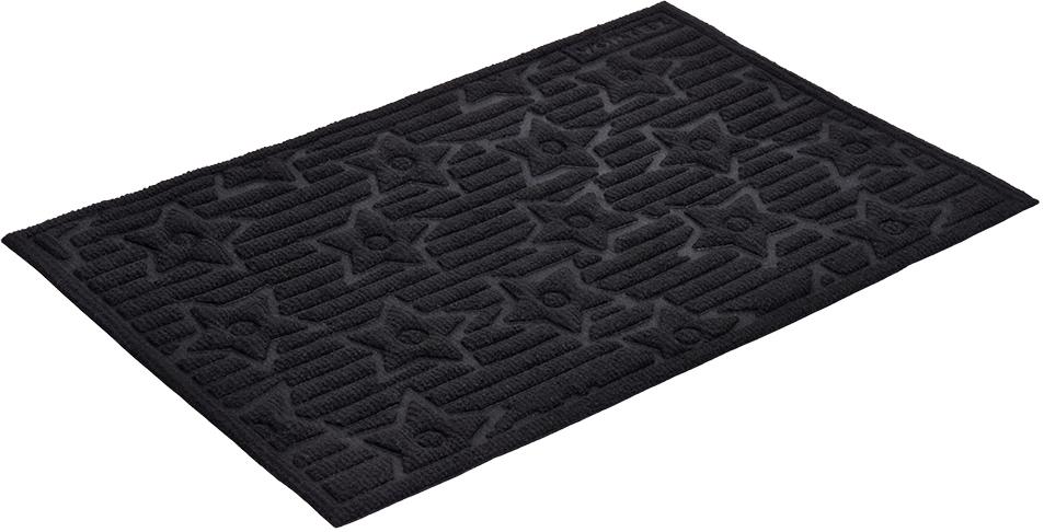 Коврик придверный Vortex Greek, рельефный, цвет: черный, 40 х 60 см коврик придверный 35х60 см черный свинка vortex 20028