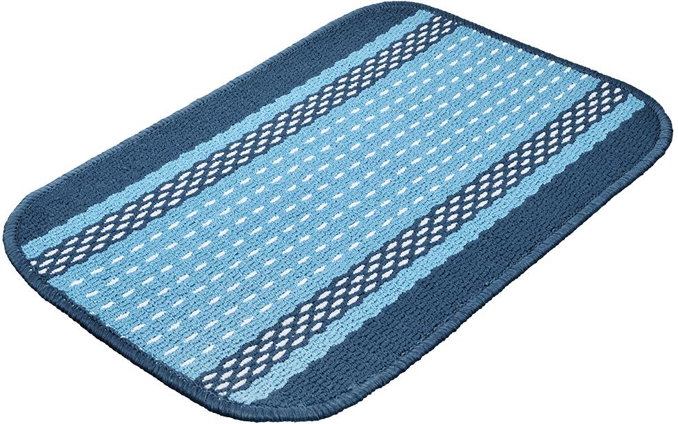 Коврик Vortex Madrid, цвет: синий, 40 х 60 см12032Ворс коврика Vortex изготовлен из 100% полипропилена. Оноформлен ярким рисунком. Коврик оснащен выполненной из латекса подложкой,которая препятствует скольжению.Коврик Vortex гармонично впишется в интерьер вашего дома и создастатмосферу уюта и комфорта. Изделие отлично подойдет как для использования вдоме, так и снаружи.