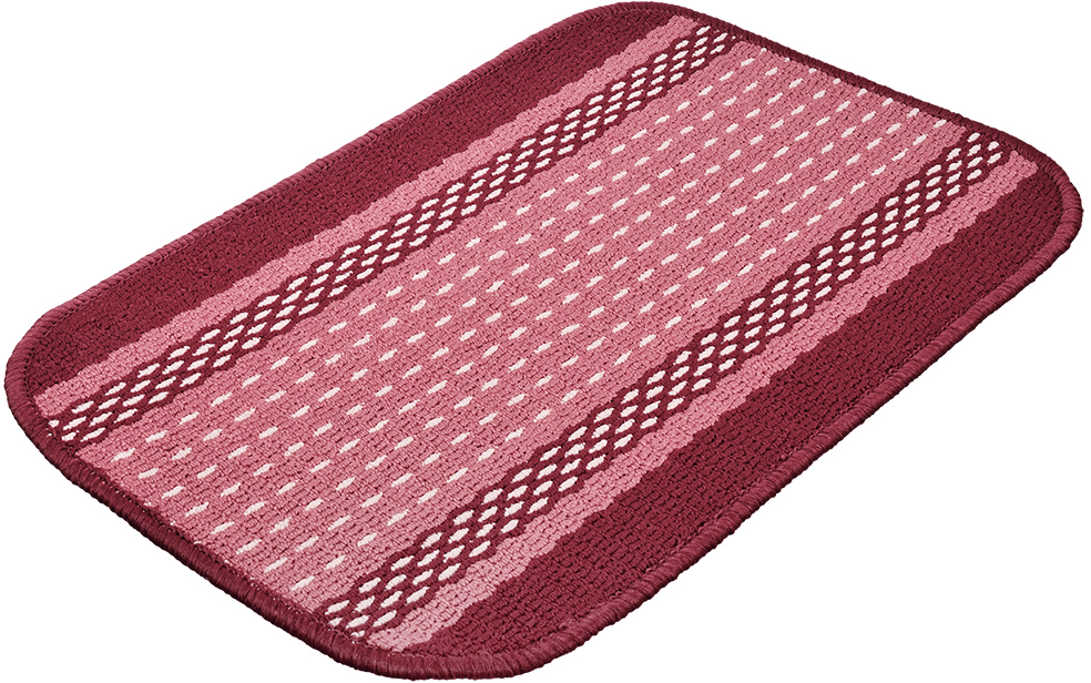 Коврик Vortex Madrid, цвет: темно-бордовый, 40 х 60 см22441Ворс коврика Vortex изготовлен из 100% полипропилена. Оноформлен ярким рисунком. Коврик оснащен выполненной из латекса подложкой,которая препятствует скольжению.Коврик Vortex гармонично впишется в интерьер вашего дома и создастатмосферу уюта и комфорта. Изделие отлично подойдет как для использования вдоме, так и снаружи.