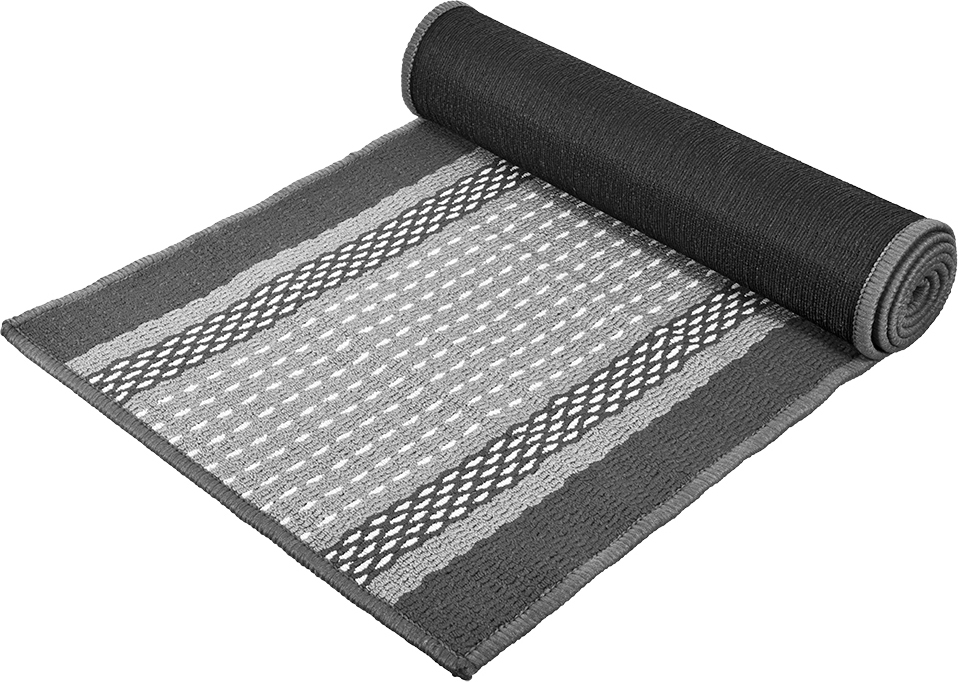 Коврик Vortex Madrid, цвет: серый, 50 х 190 см22452Ворс коврика Vortex изготовлен из 100% полипропилена. Оноформлен ярким рисунком. Коврик оснащен выполненной из латекса подложкой,которая препятствует скольжению.Коврик Vortex гармонично впишется в интерьер вашего дома и создастатмосферу уюта и комфорта. Изделие отлично подойдет как для использования вдоме, так и снаружи.