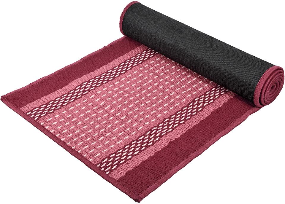Коврик Vortex Madrid, цвет: темно-бордовый, 50 х 190 см22449Ворс коврика Vortex изготовлен из 100% полипропилена. Оноформлен ярким рисунком. Коврик оснащен выполненной из латекса подложкой,которая препятствует скольжению.Коврик Vortex гармонично впишется в интерьер вашего дома и создастатмосферу уюта и комфорта. Изделие отлично подойдет как для использования вдоме, так и снаружи.