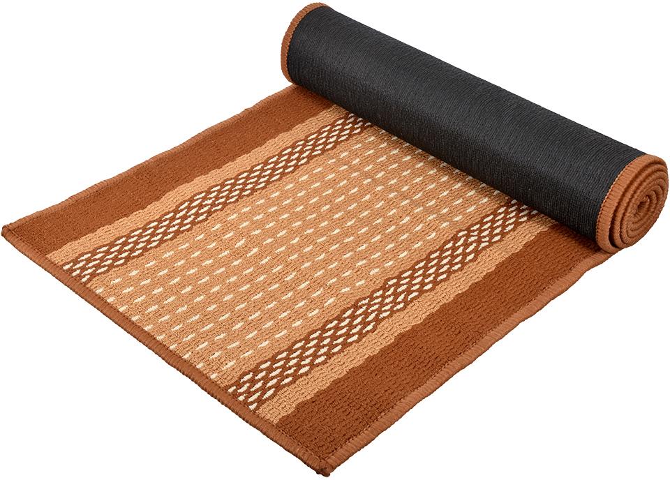 Коврик Vortex Madrid, цвет: темно-коричневый, 50 х 190 см коврик vortex disco 57 х 190 см