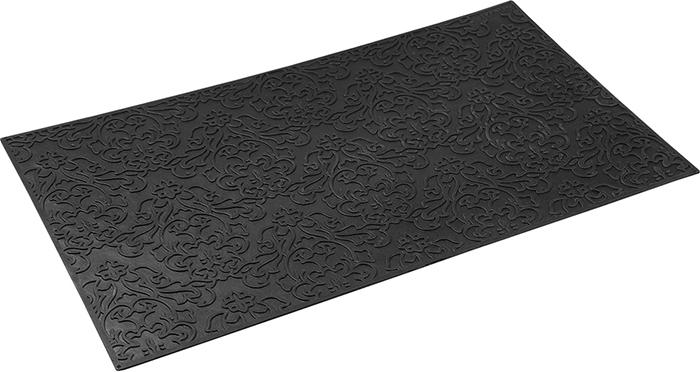 Коврик придверный Vortex Узор, грязесборный, цвет: черный, 35 х 60 см коврик придверный 35х60 см черный свинка vortex 20028