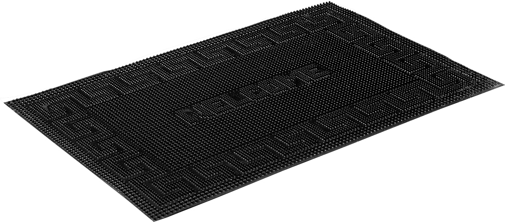 Коврик придверный Vortex Welcome, резиновый, цвет: черный, 40 х 60 см придверный коврик vortex полукруглый придверный коврик welcome comfort vortex 40×60 см