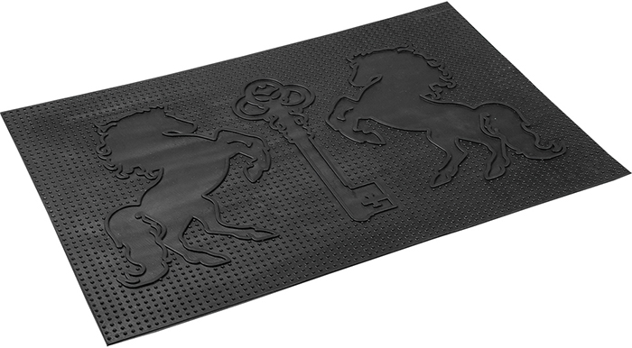 Коврик придверный Vortex Ключ, грязесборный, цвет: черный, 40 х 60 см коврик придверный vortex листья 76 46 см
