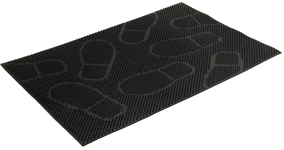 Коврик придверный Vortex Следы, 40 х 60 см коврик придверный vortex листья 76 46 см