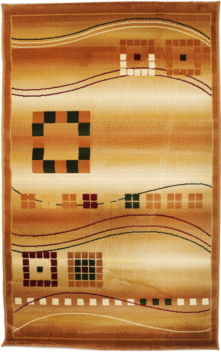 Ковер Kamalak Tekstil, прямоугольный, 100 x 150 см. УК-0080УК-0080Ковер Kamalak Tekstil изготовлен из прочного синтетическогоматериала heat-set, улучшенного варианта полипропилена (эта нитьполучается в результате его дополнительной обработки). Полипропиленизносостоек, нетоксичен, не впитываетвлагу, не провоцирует аллергию. Структура волокна вполипропиленовыхковрах гладкая, поэтому грязь не будет въедаться и скапливаться наворсе.Практичный и износоустойчивый ворс не истирается и не накапливаетстатическое электричество.Ковер обладает хорошими показателями теплостойкости ишумоизоляции.Оригинальный рисунок позволит гармонично оформить интерьеркомнаты,гостиной или прихожей.За счет невысокого ворса ковер легко чистить. При надлежащемуходесинтетический ковер прослужит долго, не утратив ни яркости узора,ниблеска ворса, ни упругости.Самый простой способ избавить изделие от грязи - пропылесоситьего собеих сторон (лицевой и изнаночной). Влажная уборка с применениемшампуней и моющих средств не противопоказана.Хранить рекомендуется в свернутом рулоном виде.