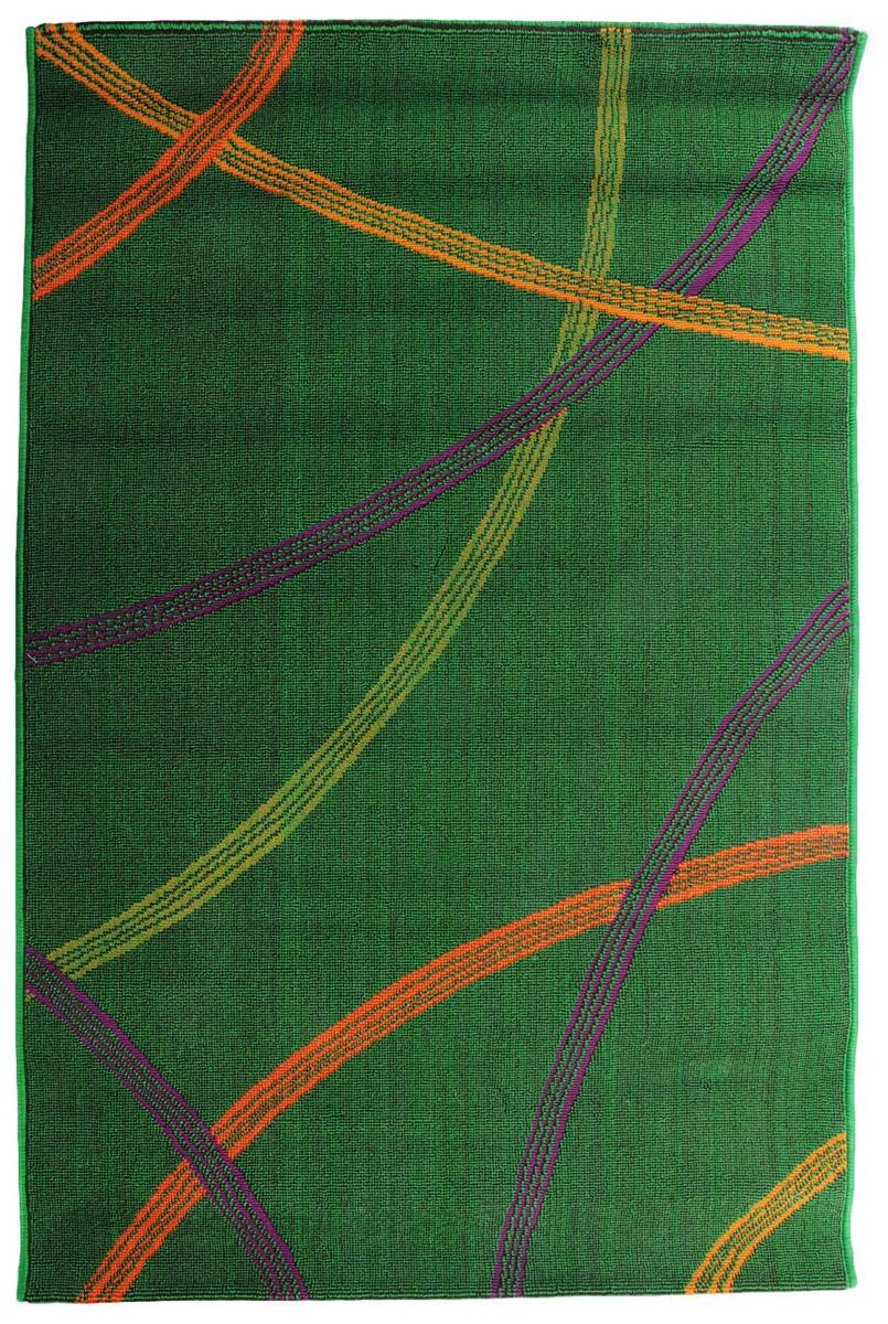 Коврик прикроватный Oriental Weavers Дaззл, цвет: зеленый, коричневый, 100 х 150 см. 15055 коврик прикроватный oriental weavers скай лайн цвет светло серый 80 х 140 см 90 w
