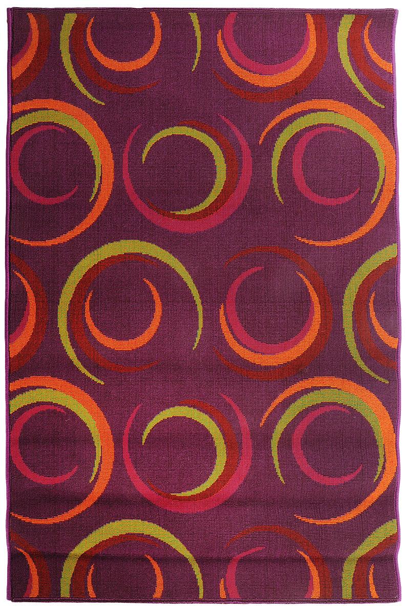 Коврик прикроватный Oriental Weavers Дaззл, цвет: фиолетовый, 100 х 150 см. 15058