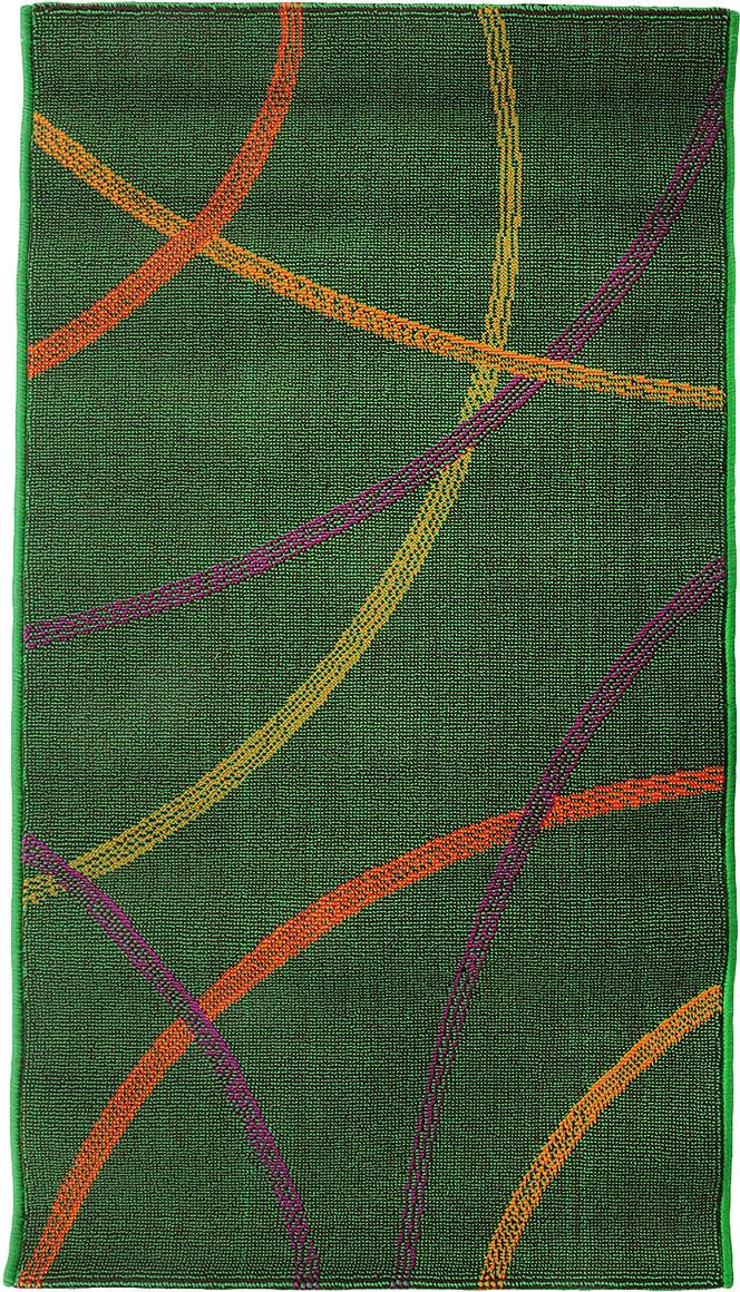 Коврик прикроватный Oriental Weavers Дaззл, цвет: зеленый, 67 х 120 см. 1503515035Яркая циновка с мягким и упругим ворсом - неповторимый элемент для гостиных и детских комнат. Оригинальный ковер от известной египетской фабрики Oriental Weavers подойдет для современных и классических интерьеров.